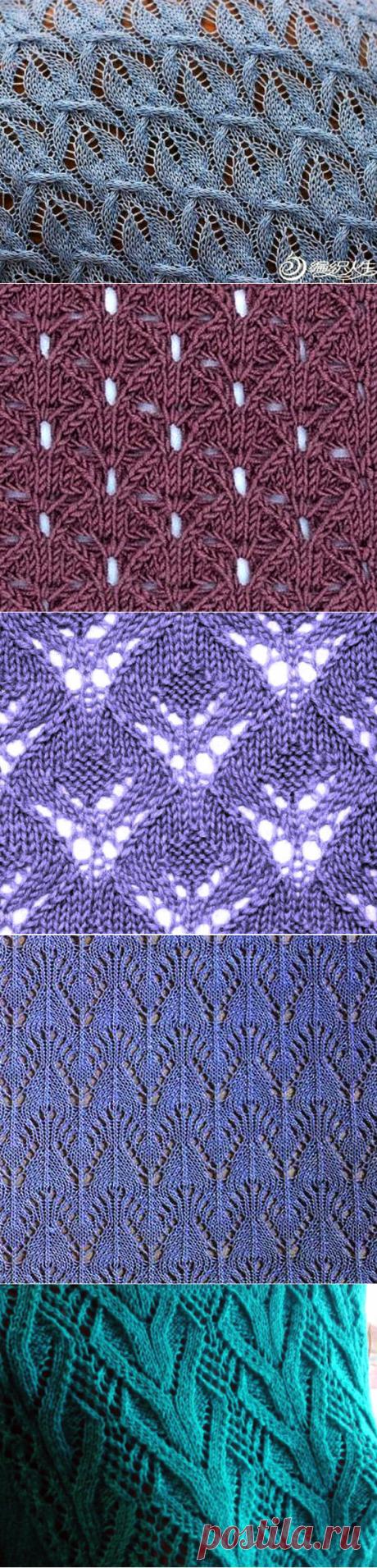 Узоры для вязания спицами. Схемы и видео МК | Магия Вязания / Knitting Magic | Яндекс Дзен