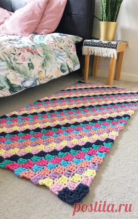 Вязаные ковры крючком - квадратные и прямоугольные, волнообразные,вообщем на любой вкус! Идеи и схемы для вязания.   Юлия Жданова   Яндекс Дзен