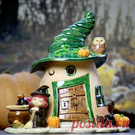 Домики для фей: волшебные керамические подсвечники Antje Rosemann – Ярмарка Мастеров