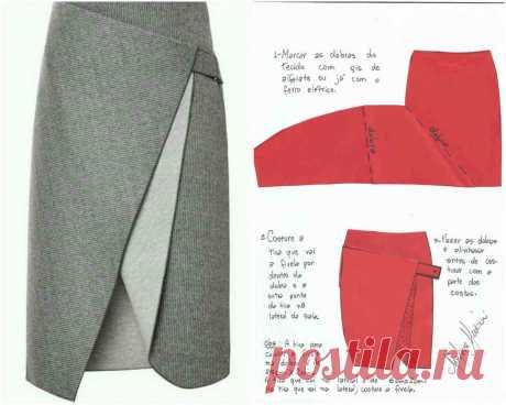 Шьем очень красивую и стильную юбку с запАхом Читать далее...
