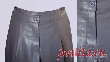[Шитье] Выполнение гульфика на брюках из экокожи. Мастер-класс