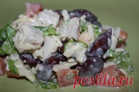 Салат с курицей и фасолью | Про рецептики - лучшие кулинарные рецепты для Вас!