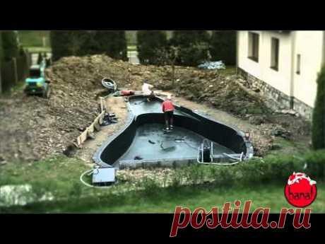 Stavba zahradního jezírka od A do Z - Jezírka Banat - YouTube