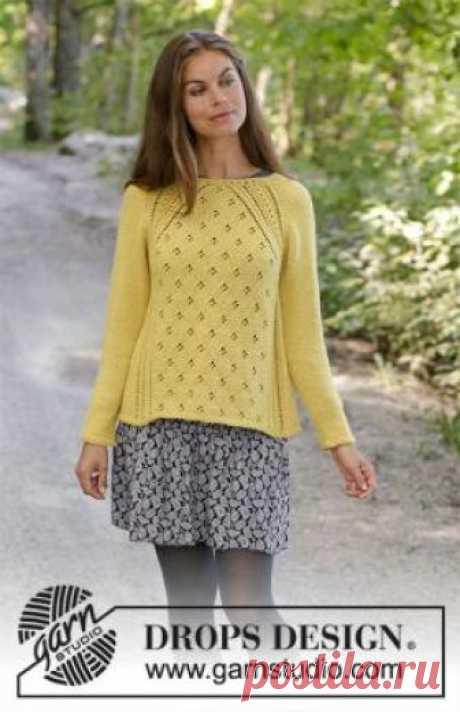 Свитер Канари Красивая и женственная модель свитера с ажурным узором, связанная на спицах 4 мм из шерстяной пряжи. Вязание свитера начинается с...
