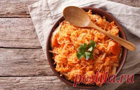 Лаханоризо или рис с капустой по-гречески .