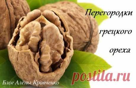 Перегородки грецких орехов - лечебные свойства. Настойка на водке - рецепт