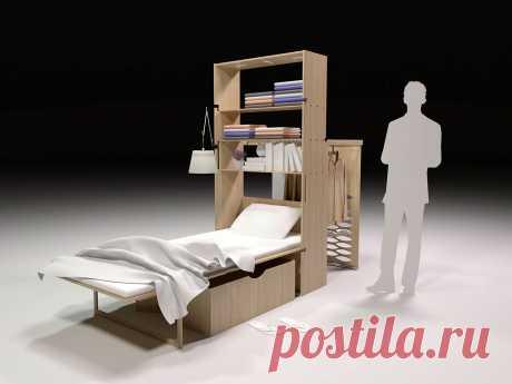 Минимальный набор мебели для жизни умещается в коробку. Интересная идея от дизайнера Беханс