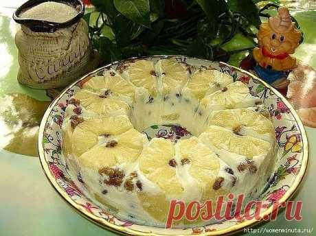 Желейный ананасовый десерт