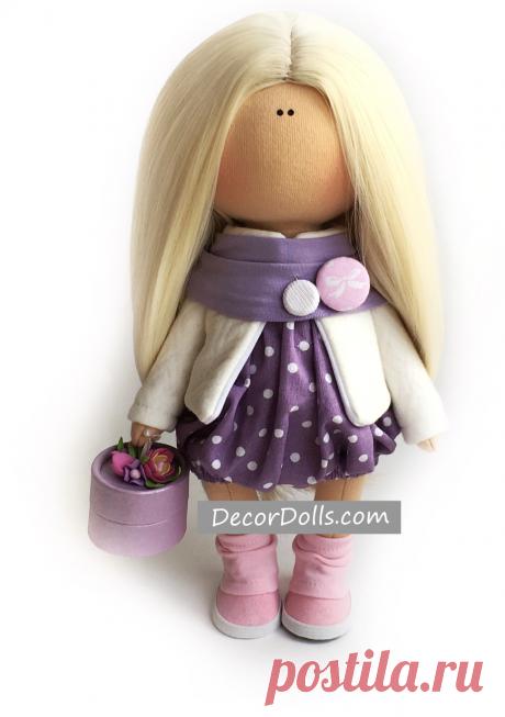 Winter Poupée Doll, Cloth Rag Doll, Textile Baby Doll, Nursery Fabric – Decor Dolls