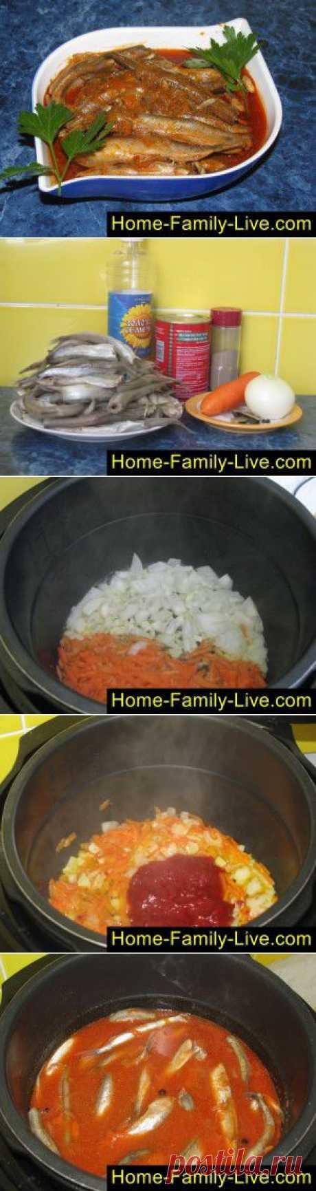 Мойва в мультиварке - пошаговый фоторецепт - мойва в томатном соусе