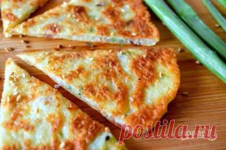 Китайские лепешки с луком - пошаговый рецепт с фото на Повар.ру