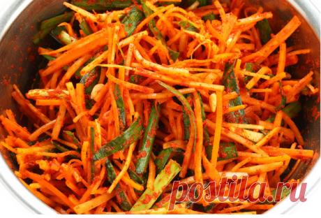 La zanahoria coreana. Las finezas importantes de la preparación