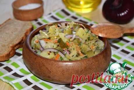 """Картофельный салат """"Минутное дело"""" - кулинарный рецепт"""