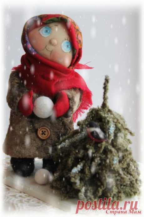 Выкройка куколки со снежком :) / Рукоделие