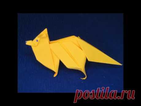 Как Сделать Бумажную Лису. Лиса из бумаги. How to make Paper Fox
