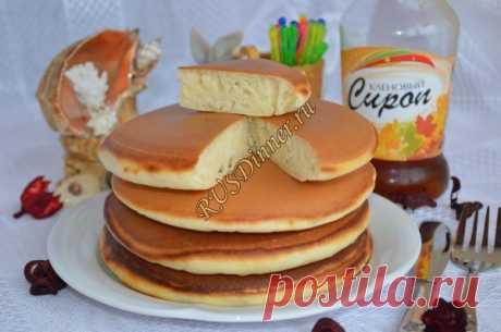 Панкейки - американские блинчики Пошаговый рецепт с фото панкейков, американских блинчиков. Продукты: масло растительное, мука, разрыхлитель теста, сахар, сода пищевая, соль, яйцо, ванилин, пахта. Время приготовления 40 минут.