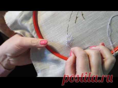 Уроки вышивания Вышить правильно цветок