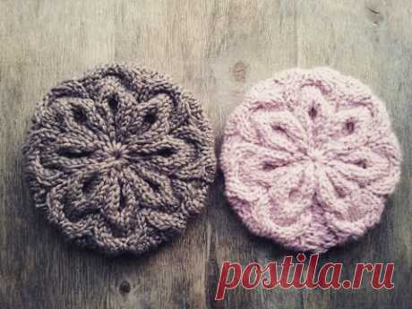 """Takes """"Розовый снег"""". Spokes from a thick yarn! MK."""