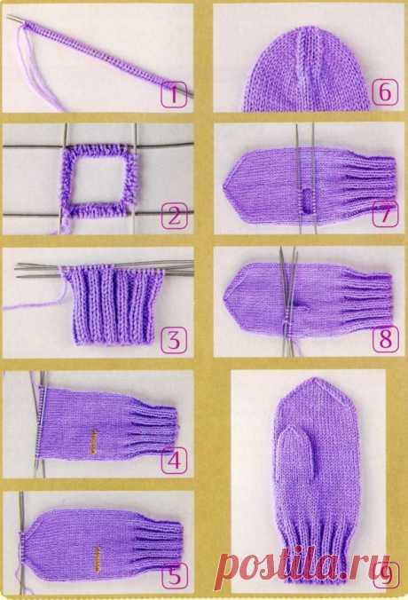 Как вязать варежки спицами: 100 фото как сделать варежки своими руками