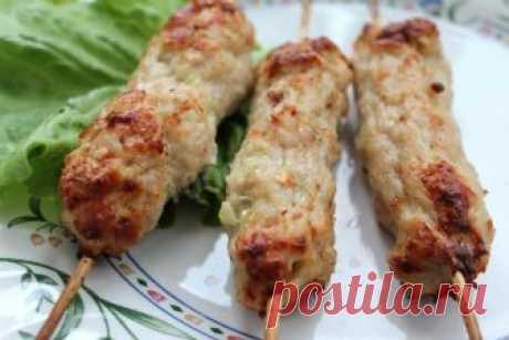 Люля кебаб на шампурах из свинины в духовке рецепт с фото пошагово - 1000.menu