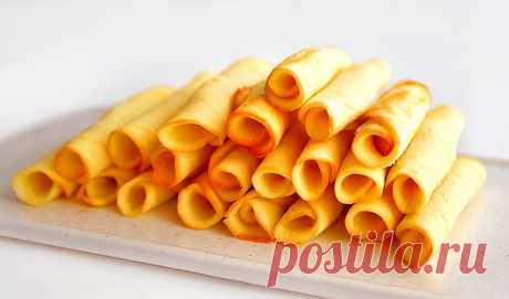 Песочное печенье «Трубочки»   Рецепты на FooDee.top