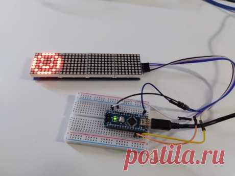 Урок Arduino по работе с матрицей  MAX7219 поможет начинающему ардуинщику понять, как подключать светодиодную матрицу к Arduino UNO или NANO. Вывести простую анимацию и графические элементы, например смайлики.