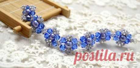 Плетем красивый браслет из бусин за 30 минут