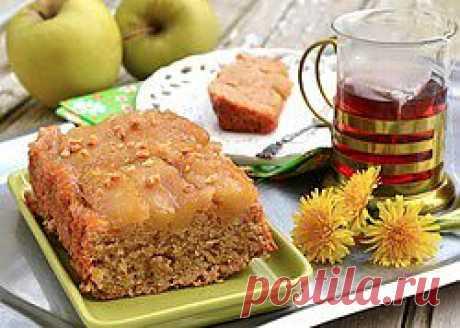 Постный яблочный пирог-перевертыш