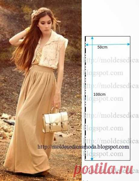 Летние юбки и блузы с простыми выкройками