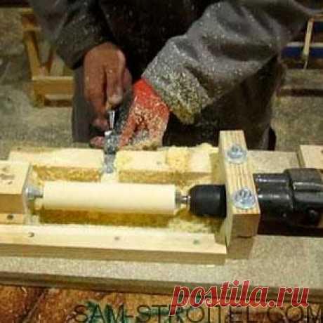 Самодельный токарный станок по дереву своими руками Самый простой самодельный токарный станок по дереву своими руками, подробное описание изготовления самоделки с фото.