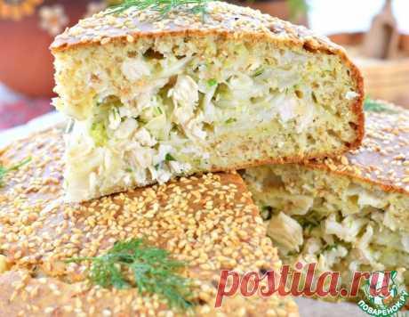 Пирог капустный с курицей – кулинарный рецепт