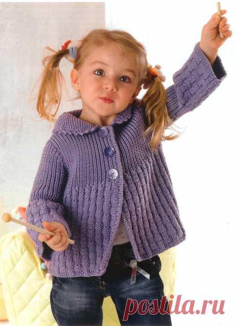 Вязание для девочки жакета Giacchina ametista