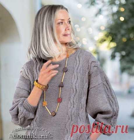 10 вязаных пуловеров и жакетов для женщин 50-60 лет схемы описания бесплатно