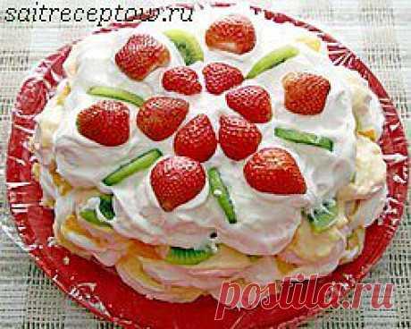 Торт из зефира.   Сайт рецептов