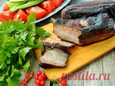 Грудинка горячего копчения в коптильне в домашних условиях рецепт с фото пошагово - 1000.menu