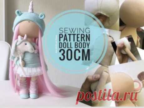 """Sewing Pattern Doll Body 30 cm, 11"""" Tilda Doll Tutorial, Rag Doll Body, Interior Art Doll Handmade, Nursery Doll Body Sewing by Yulia K Interior Doll Body Sewing Pattern for Dolls by master Yula K.  Pattern uncludes Doll Body sewing tutorial.  Pattern is for 30 cm (11.9 inch) dolls by master Yulia K.  Pattern is made in PDF format: 5 pages, 17 photos + sewing pattern A4 size. Languages: English, Russian  You can see"""