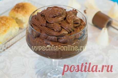 ✔️Шоколадный крем для бисквитного торта рецепт из сливок и какао