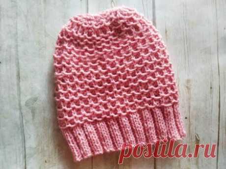 Теплая шапка на осень спицами плотным узором » «Хомяк55» - всё о вязании спицами и крючком