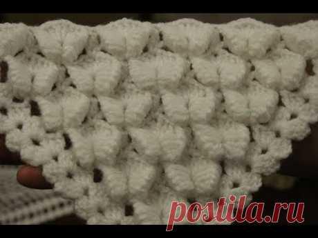 Красивый узор для вязания шалей и тд.