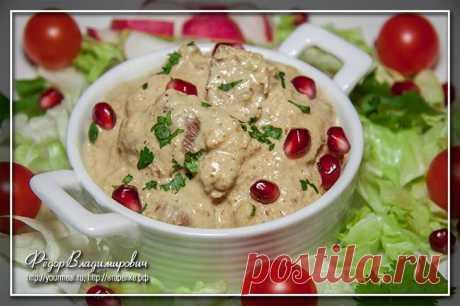 Сациви Сациви — это название соуса из грецких орехов, которое распространяется и на блюда с этим соусом. Чаще всего для приготовления сациви как блюда используется курица или индейка, что считается более тра…
