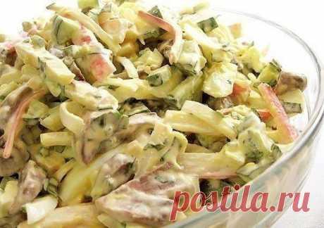 Вкусный салат с грибами / Вязание как искусство!