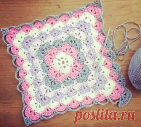 Blanket crochet stitch Bavarian - step by step free