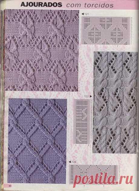 Красивые узоры спицами. Подборка узоров для вязания спицами | Домоводство для всей семьи.