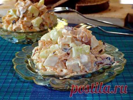Салат с копченой курицей и огурцом рецепт с фото пошагово - 1000.menu