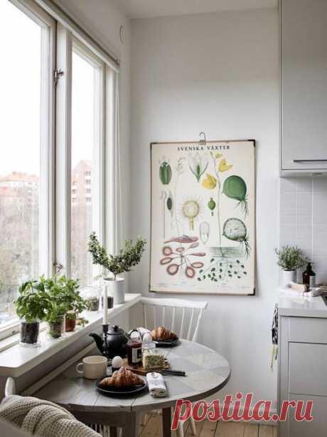 7 практичных советов, где найти место для обеденного стола на маленькой кухне