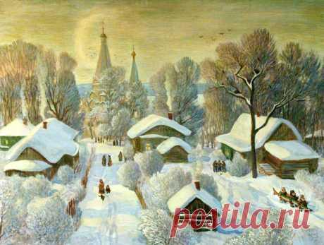 """""""Кабы не было зимы"""": позитивная подборка картин о зиме - Ярмарка Мастеров - ручная работа, handmade"""