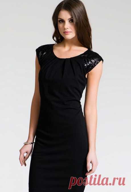 Скачать выкройку Маленькое черное платье Размеры 46-48 rus в PDF бесплатно