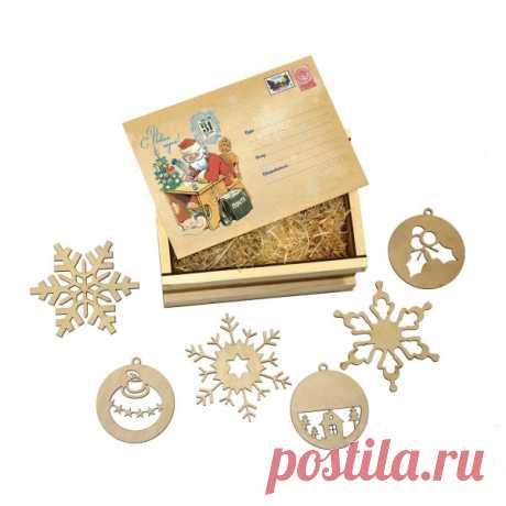 Подарочный ящик, новогодняя посылка, подарочный набор