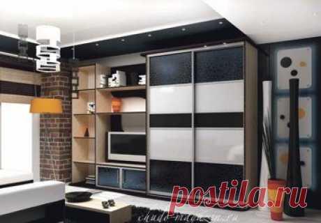 Шкаф купе с дверями из кожи на заказ; фото, цены, замер.