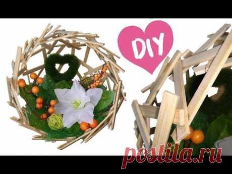 DIY из ДЕРЕВЯННЫХ ШПАЖЕК/ Поделки из плоских деревянных палочек/ ИДЕИ из шпажек
